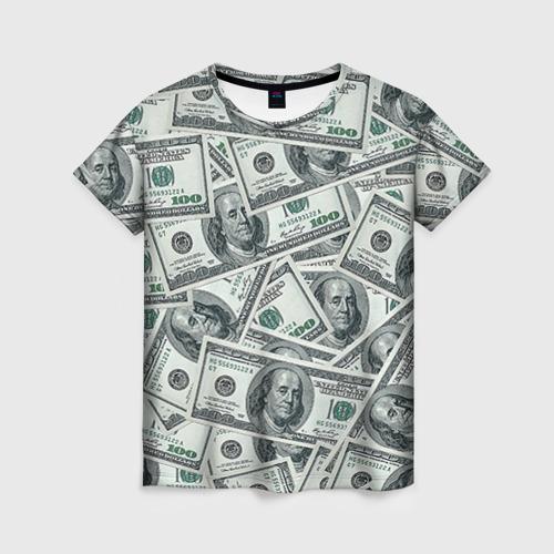 Женская футболка 3D Банкноты
