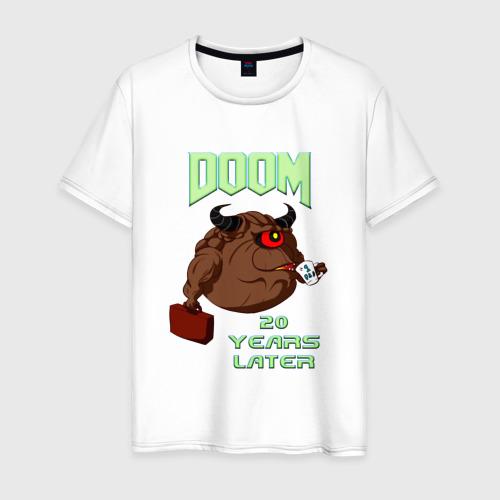 Мужская футболка хлопок Doom 20 лет спустя