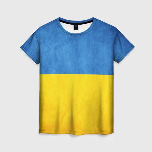 Женская футболка 3D Украина