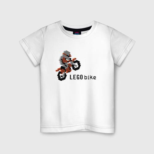 Детская футболка хлопок Лего мотоцикл