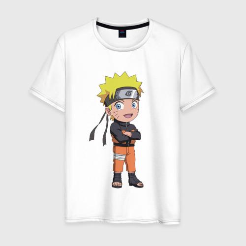 Мужская футболка хлопок Чиби Наруто