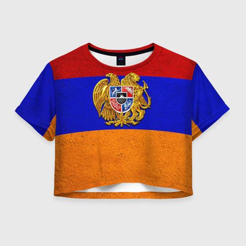 Женская футболка Crop-top 3D Армения