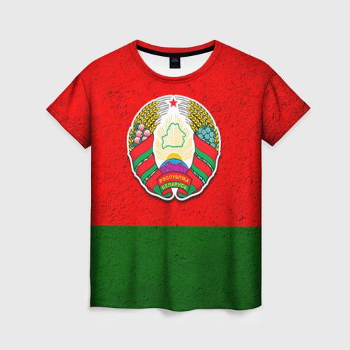 Женская футболка 3D Белоруссия