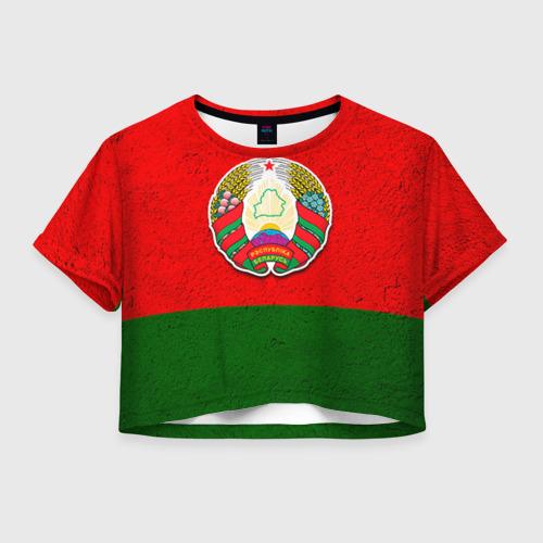 Женская футболка Crop-top 3D Белоруссия