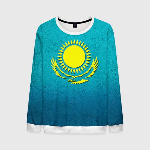 Мужской свитшот 3D Флаг Казахстана