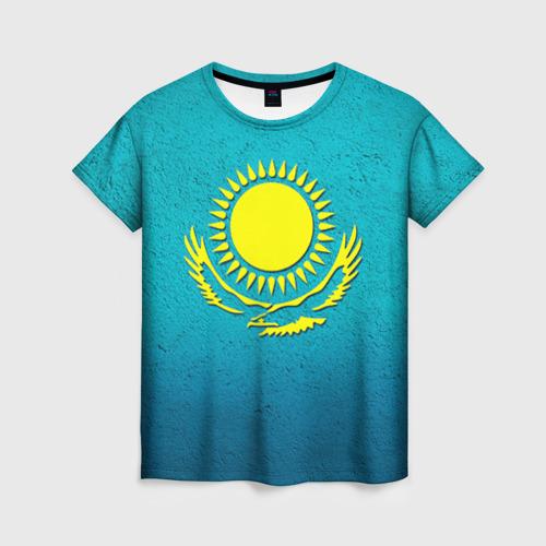 Женская футболка 3D Флаг Казахстана