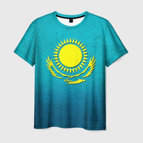 Мужская футболка 3D Флаг Казахстана