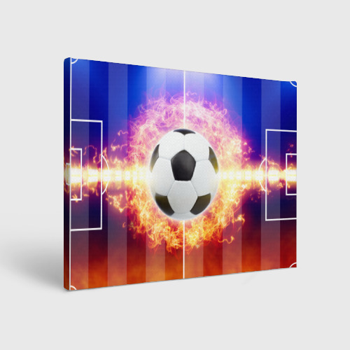Холст прямоугольный Футбол - моя страсть