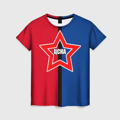 Женская футболка 3D ЦСКА