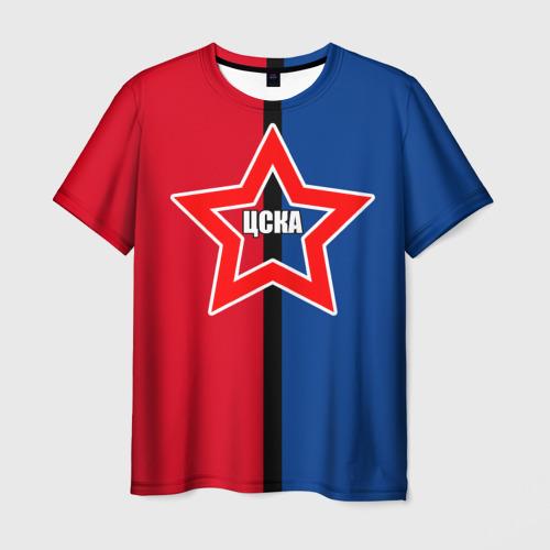 Мужская футболка 3D ЦСКА