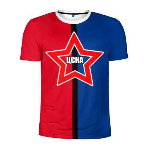 Мужская футболка 3D спортивная ЦСКА