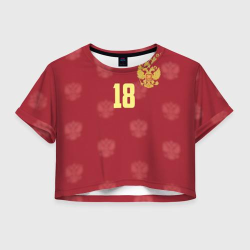 Женская футболка Crop-top 3D Денис Черышев