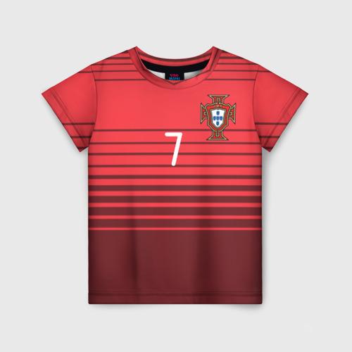 Детская футболка 3D Роналду сборная Португалии