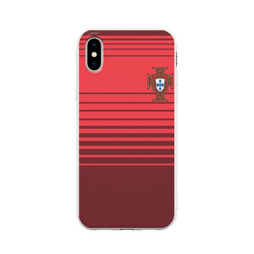 Чехол для iPhone X матовый Сборная Португалии по футболу