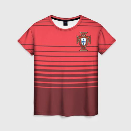 Женская футболка 3D Сборная Португалии по футболу