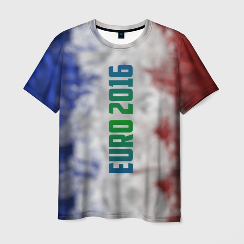 Мужская футболка 3D Евро 2016 Франция