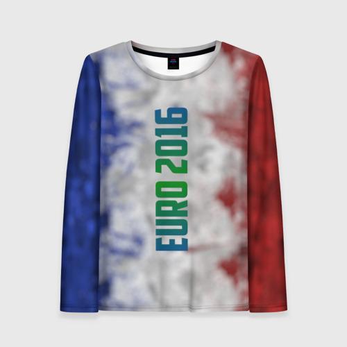 Женский лонгслив 3D Евро 2016 Франция