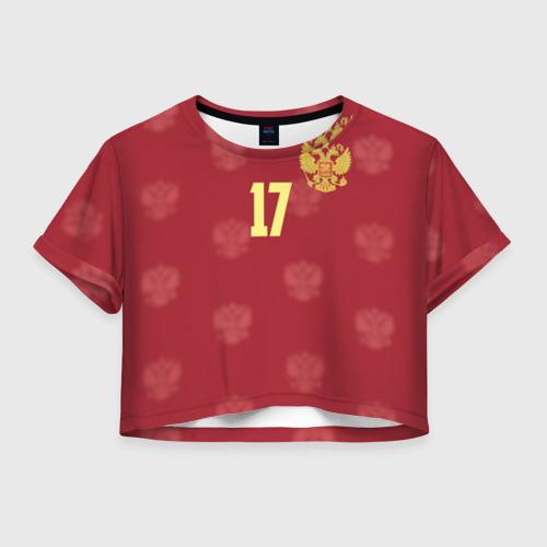 Женская футболка Crop-top 3D Олег Шатов