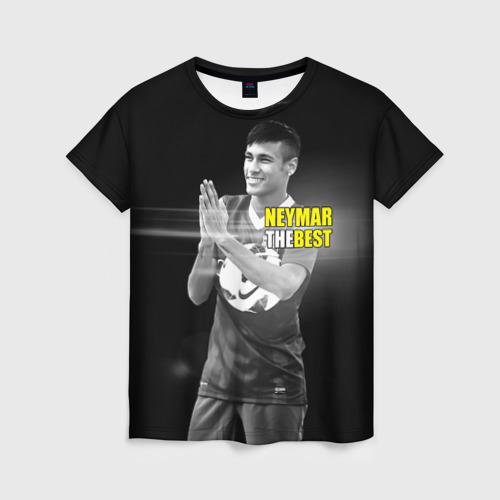 Женская футболка 3D Neymar the best