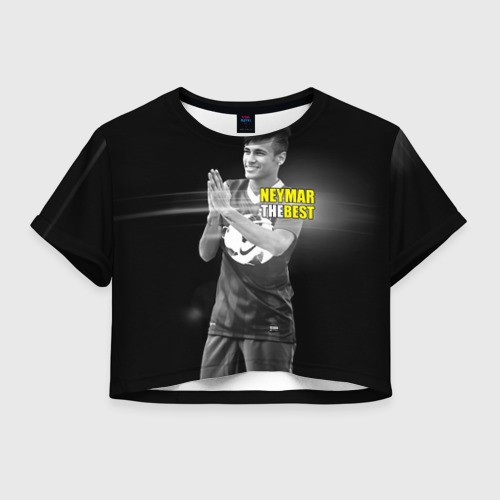 Женская футболка Crop-top 3D Neymar the best
