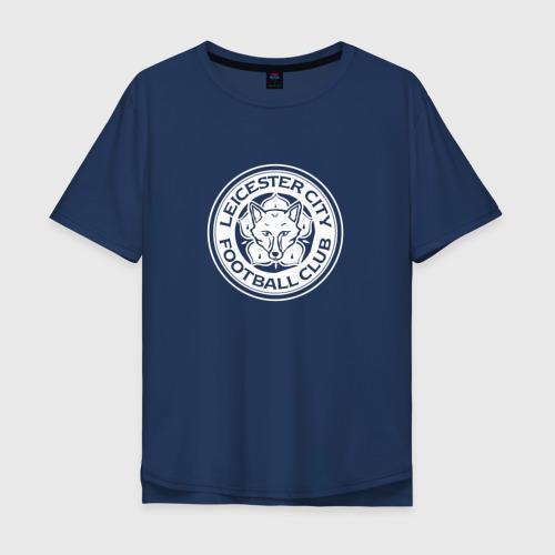 Мужская футболка хлопок Oversize Leicester city white