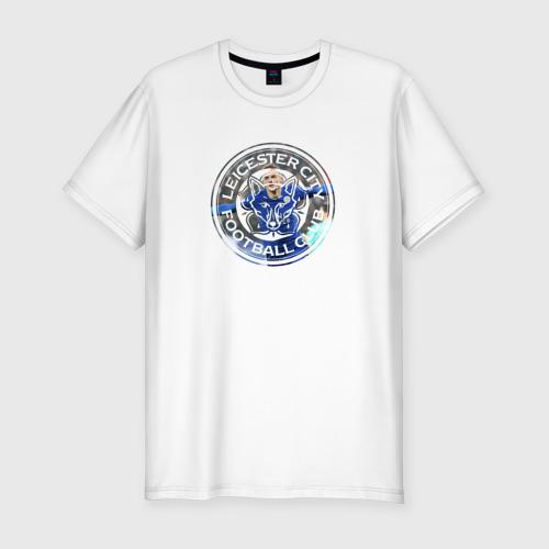 Мужская футболка хлопок Slim Leicester Vardy