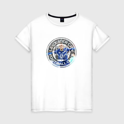 Женская футболка хлопок Leicester Vardy