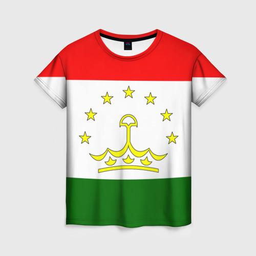 Женская футболка 3D Таджикистан
