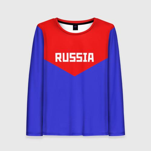 Женский лонгслив 3D Russia