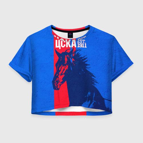 Женская футболка Crop-top 3D ЦСКА ФК