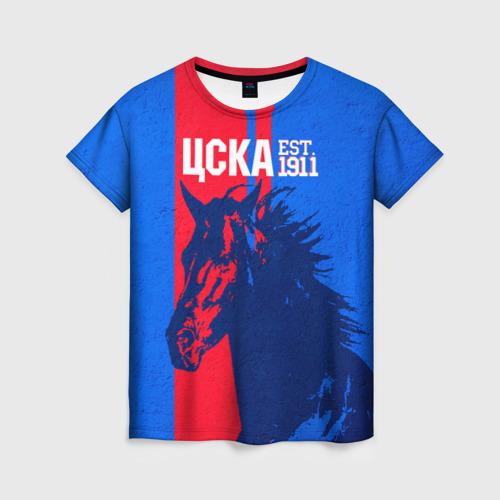 Женская футболка 3D ЦСКА ФК