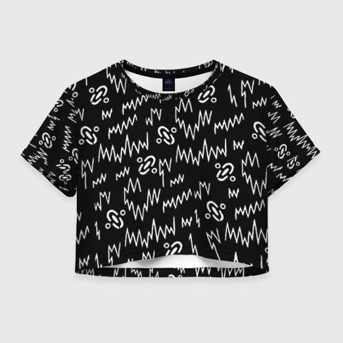 Женская футболка Crop-top 3D Chemical Brothers