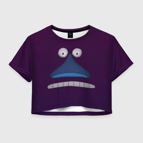 Женская футболка Crop-top 3D Лицо Моры