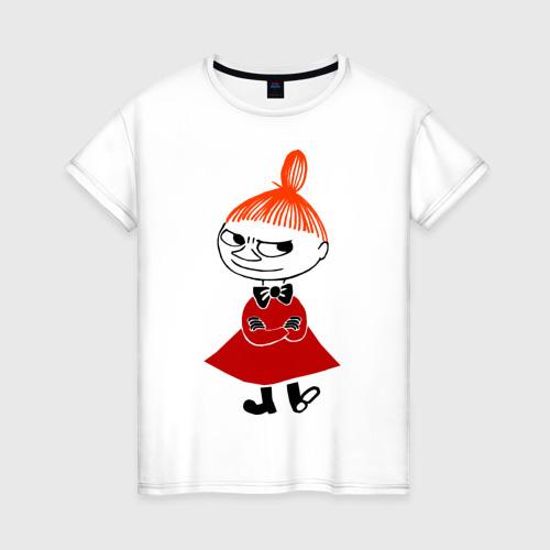 Женская футболка хлопок Малышка Мю