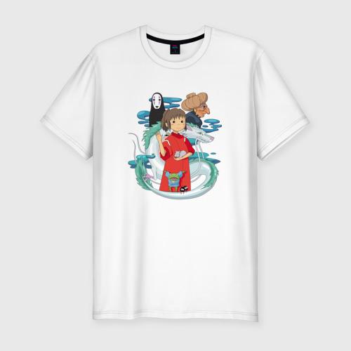 Мужская футболка хлопок Slim Унесенный призраками