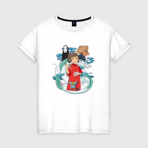 Женская футболка хлопок Унесенный призраками