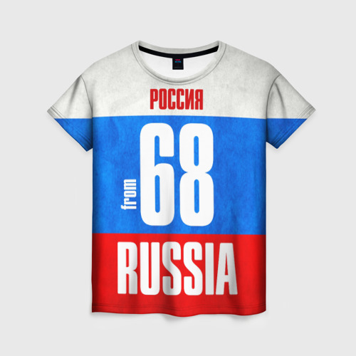 Женская футболка 3D Russia (from 68)