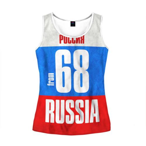 Женская майка 3D Russia (from 68)