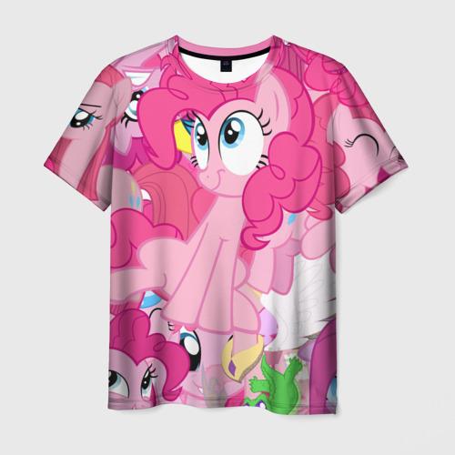 Мужская футболка 3D Pinky Pie