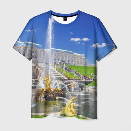 Мужская футболка 3D Петергоф