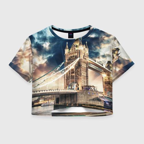Женская футболка Crop-top 3D Англия