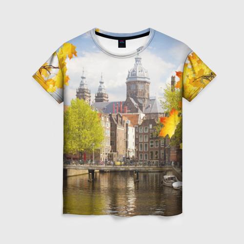 Женская футболка 3D Amsterdam