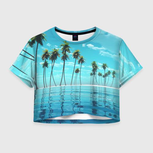 Женская футболка Crop-top 3D Фиджи