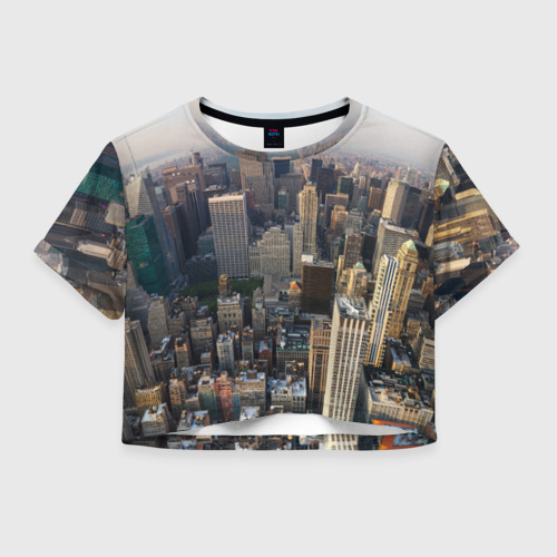 Женская футболка Crop-top 3D New York
