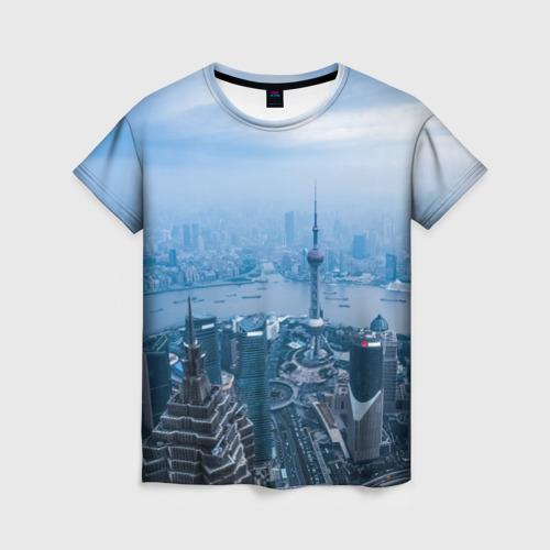 Женская футболка 3D Шанхай