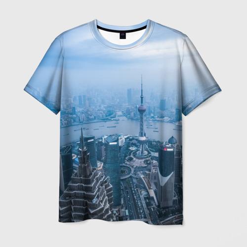 Мужская футболка 3D Шанхай