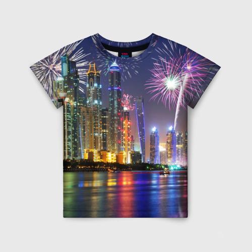 Детская футболка 3D Салют в Дубае