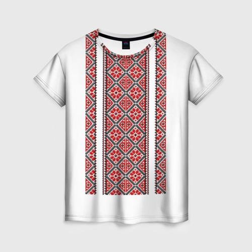 Женская футболка 3D Вышивка 13