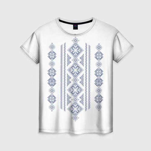 Женская футболка 3D Вышивка 24