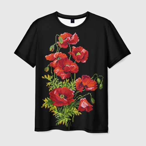 Мужская футболка 3D Вышивка 29